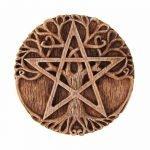 scultura pagana con Albero della Vita e Pentacolo