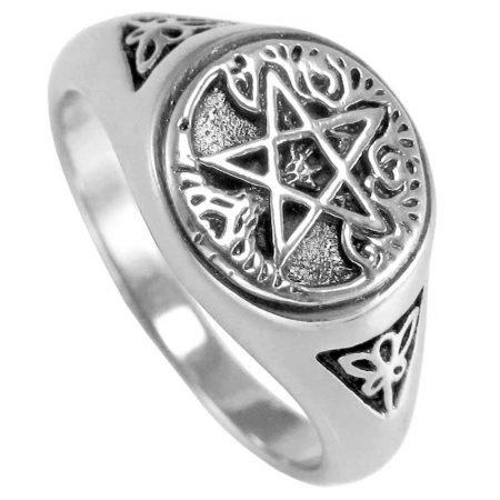 anello con pentacolo e albero della vita