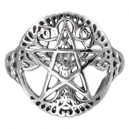 anello con Albero della Vita e Pentacolo