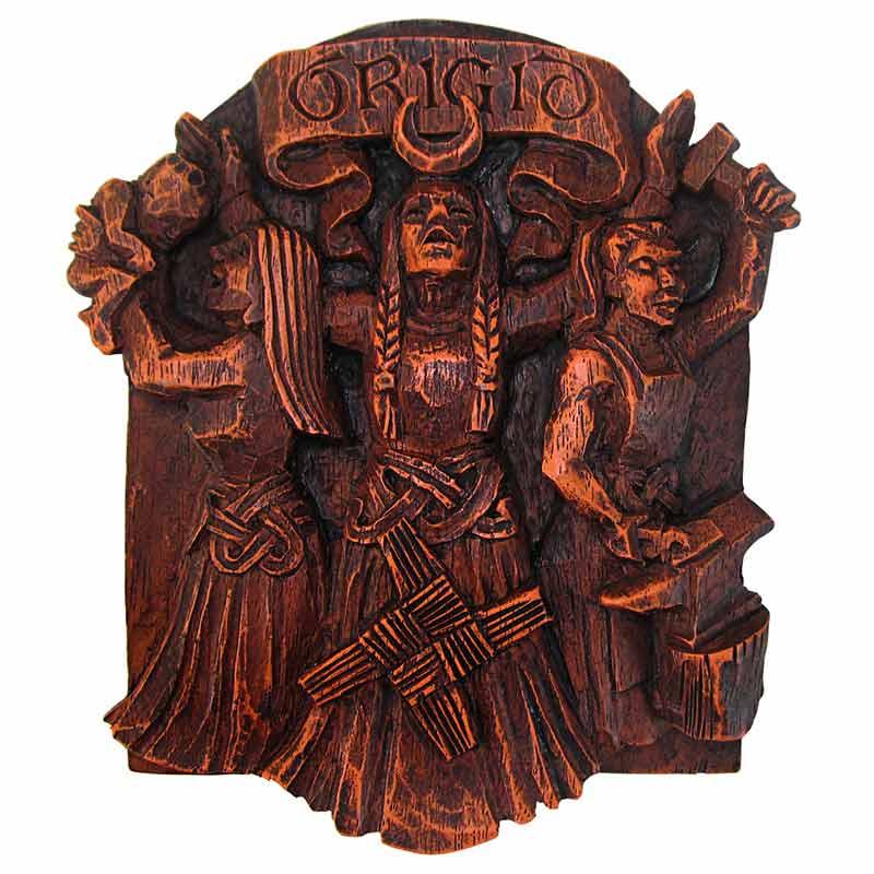 statua pagana della Dea Brigid