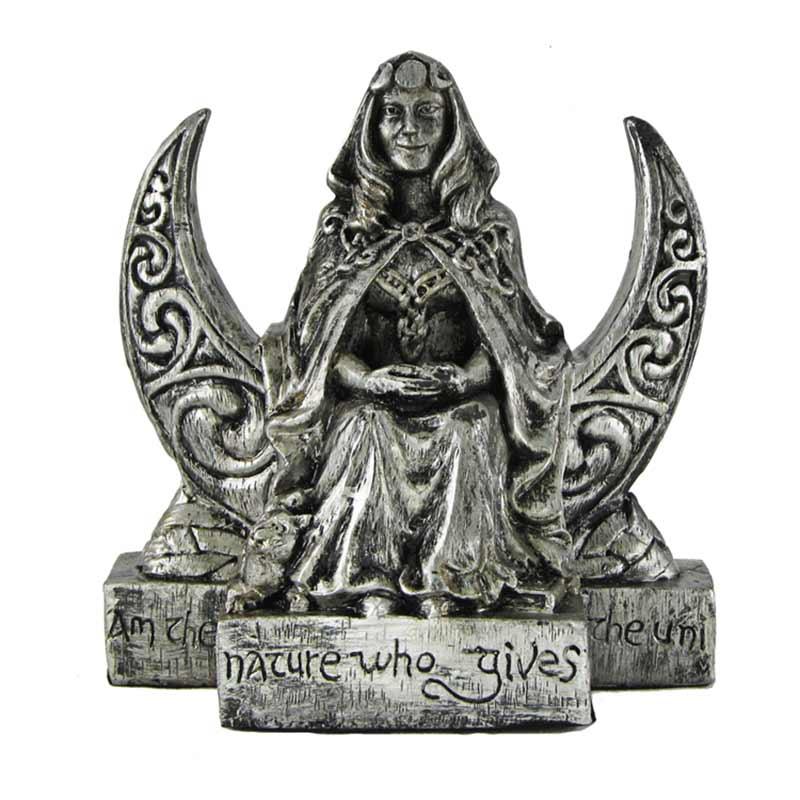 statua della dea della luna effetto pietra