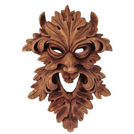 statua pagana maschera del Greenman