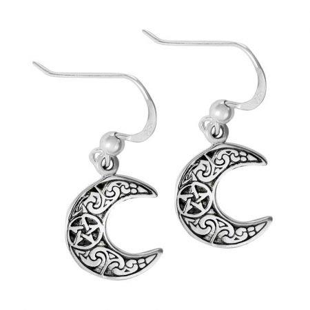 orecchini pendente con Luna decorata