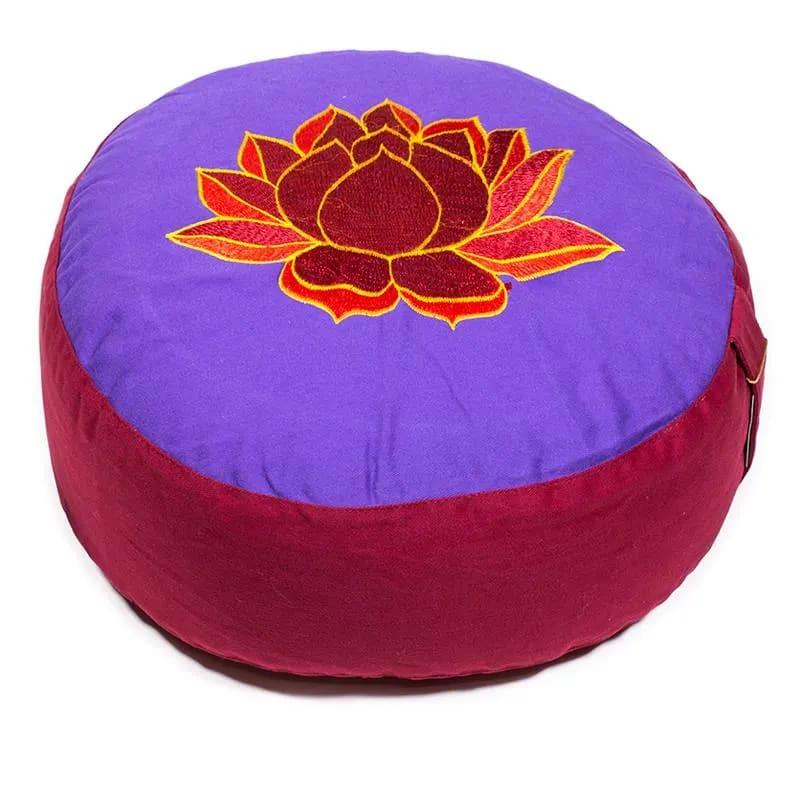 cuscino zafu con loto