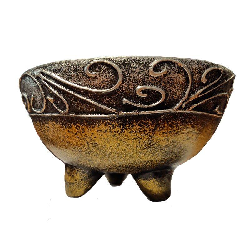 Incensiere in ceramica decorata