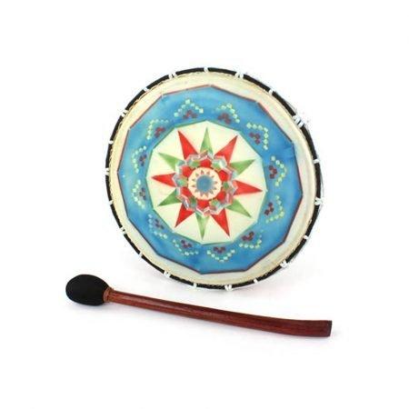 tamburo sciamannino decorato