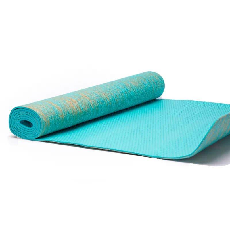 Tappetino da Yoga iuta turchese